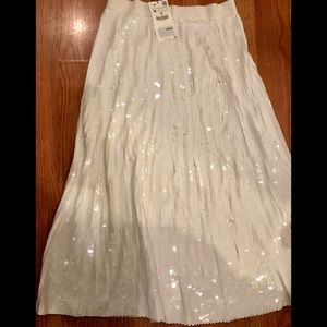 Tea-Length Sequined Zara Skirt. NEW!